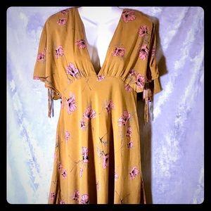 Free People Saffron V-Neck Tunic/Mini, Size 10